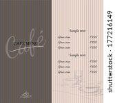 cafe vintage background | Shutterstock .eps vector #177216149