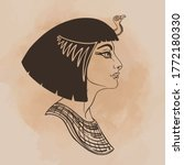 egyptian queen cleopatra... | Shutterstock .eps vector #1772180330