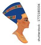 egyptian queen nefertiti... | Shutterstock .eps vector #1772180336
