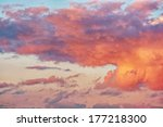 sunrise   sunset with clouds | Shutterstock . vector #177218300