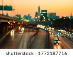 Abstract Blurred Street At...