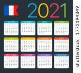 2021 calendar   vector template ... | Shutterstock .eps vector #1772194349