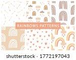 cute rainbows seamless patterns ... | Shutterstock .eps vector #1772197043