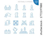 chess related icons. editable...   Shutterstock .eps vector #1772197880
