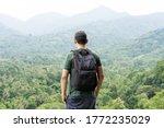 back view of asian traveler...   Shutterstock . vector #1772235029