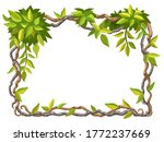 liana branches and tropical...   Shutterstock .eps vector #1772237669