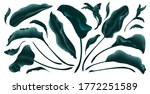 palm leaves  gold  marble... | Shutterstock .eps vector #1772251589