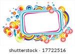 vector fantasy bubble frame | Shutterstock .eps vector #17722516