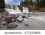 Gooseberry falls in spring time, North Shore, Lake Superior, Minnesota, USA