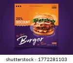 restaurant social media post... | Shutterstock .eps vector #1772281103