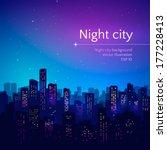 night city. vector illustration. | Shutterstock .eps vector #177228413