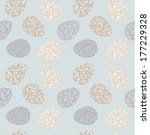 seamless pattern with easter... | Shutterstock . vector #177229328