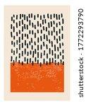 minimal 20s geometric design... | Shutterstock .eps vector #1772293790