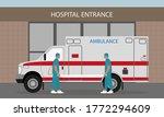 hospital entrance  ambulance... | Shutterstock .eps vector #1772294609