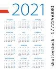calendar 2021   illustration.... | Shutterstock .eps vector #1772296880