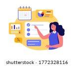 businesswoman coach presenting...   Shutterstock .eps vector #1772328116