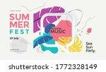 summer fest banner design with... | Shutterstock .eps vector #1772328149
