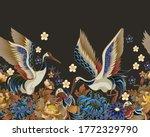 border with mandarin ducks ...   Shutterstock .eps vector #1772329790