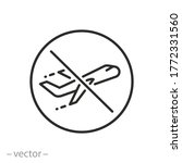 no flight icon  no fly zone ...   Shutterstock .eps vector #1772331560