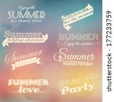 retro summer elements | Shutterstock .eps vector #177233759