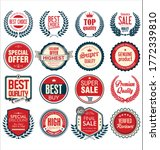 retro vintage sale badges and... | Shutterstock . vector #1772339810