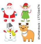set of christmas characters.... | Shutterstock .eps vector #177236474