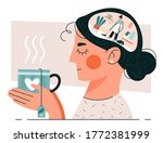 woman having cleansing thoughts ... | Shutterstock .eps vector #1772381999
