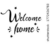welcome home   english... | Shutterstock .eps vector #1772426783