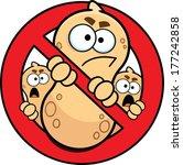 allergy alert sign  no peanuts  ...
