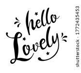 hello lovely   english... | Shutterstock .eps vector #1772435453