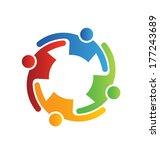 teamwork embrace 4 group of... | Shutterstock . vector #177243689