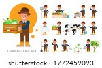set of farmer kid boy character ...   Shutterstock .eps vector #1772459093