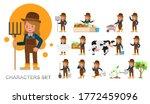 set of girl kid farmer... | Shutterstock .eps vector #1772459096