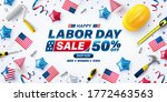 usa labor day sale poster... | Shutterstock .eps vector #1772463563