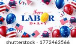father's day sale poster with... | Shutterstock .eps vector #1772463566