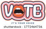 vote   it's your voice.... | Shutterstock .eps vector #1772464736