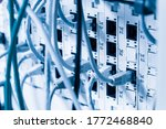 Detail Of Server Rack With...