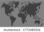 dotted world map white dots... | Shutterstock .eps vector #1772485526