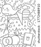coloring page alphabet for kids ... | Shutterstock .eps vector #1772488910