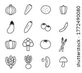 set of simple vegetable icons | Shutterstock .eps vector #1772490080