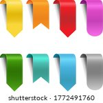 colorful ribbon set isolated...   Shutterstock .eps vector #1772491760