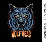 warewolf head angry face...   Shutterstock .eps vector #1772496623