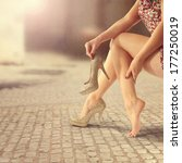 woman legs  | Shutterstock . vector #177250019