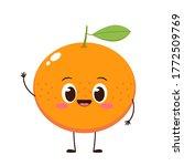 cute happy orange character....   Shutterstock .eps vector #1772509769