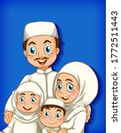 muslim family member on cartoon ...   Shutterstock .eps vector #1772511443