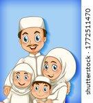 muslim family member on cartoon ...   Shutterstock .eps vector #1772511470