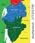 rwanda map | Shutterstock .eps vector #177251750