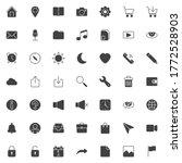 basic ui vector icons set ...