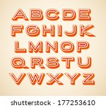 retro constructor letters... | Shutterstock .eps vector #177253610