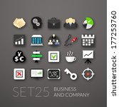 flat icons set 25   business... | Shutterstock .eps vector #177253760